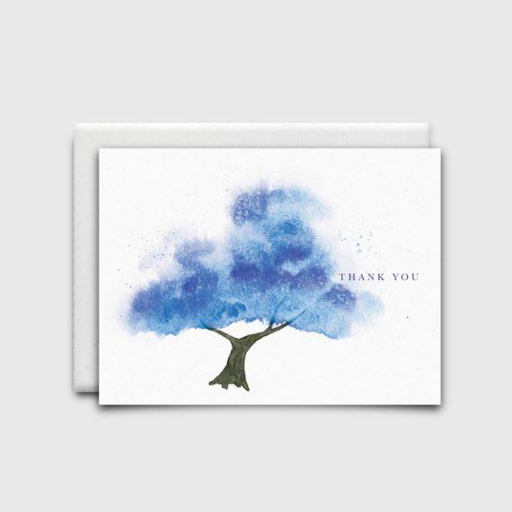 Stationery: Blue Tree