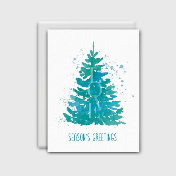 NatalieTrainor_Shop_Xmas Stationery Blue Green Tree