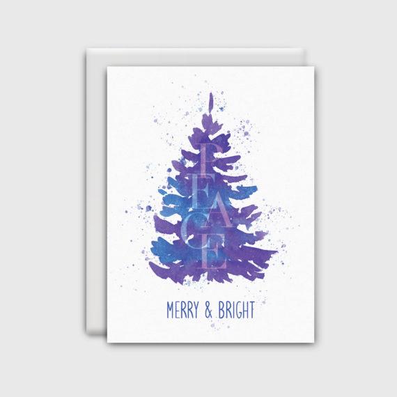 NatalieTrainor_Shop_Xmas Stationery Purple Tree
